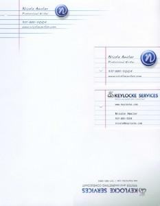 Keylocke Services & Nicole Amsler Marketing Materials