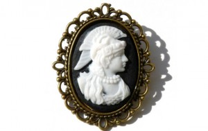 warrior woman brooch
